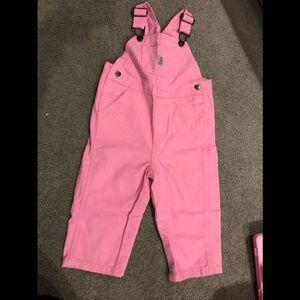 Never worn pink overalls